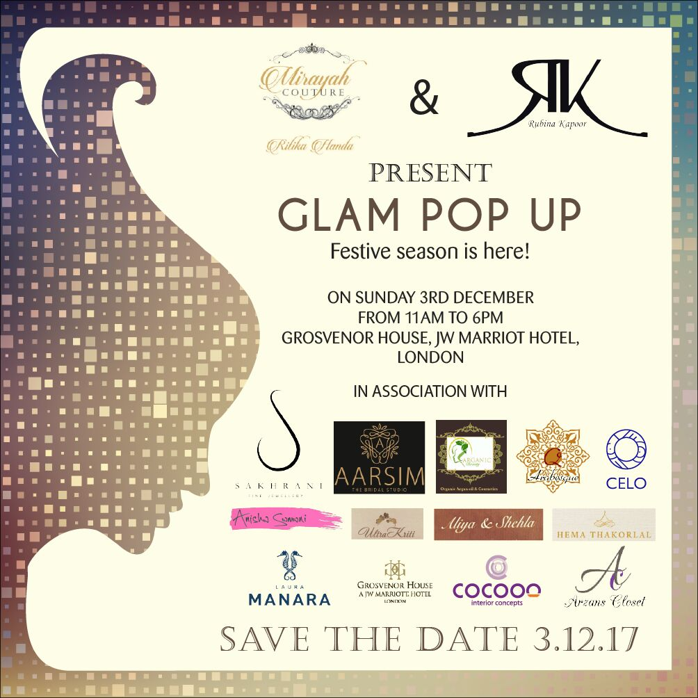 glam pop up – jw marriot hotel london