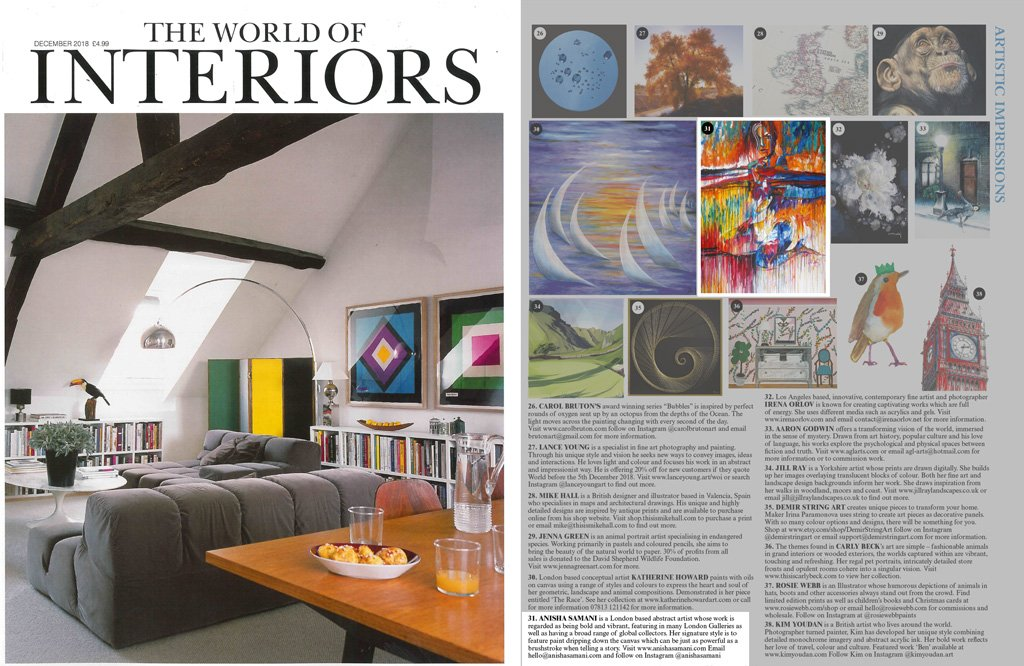 world of interiors – issue november 2018
