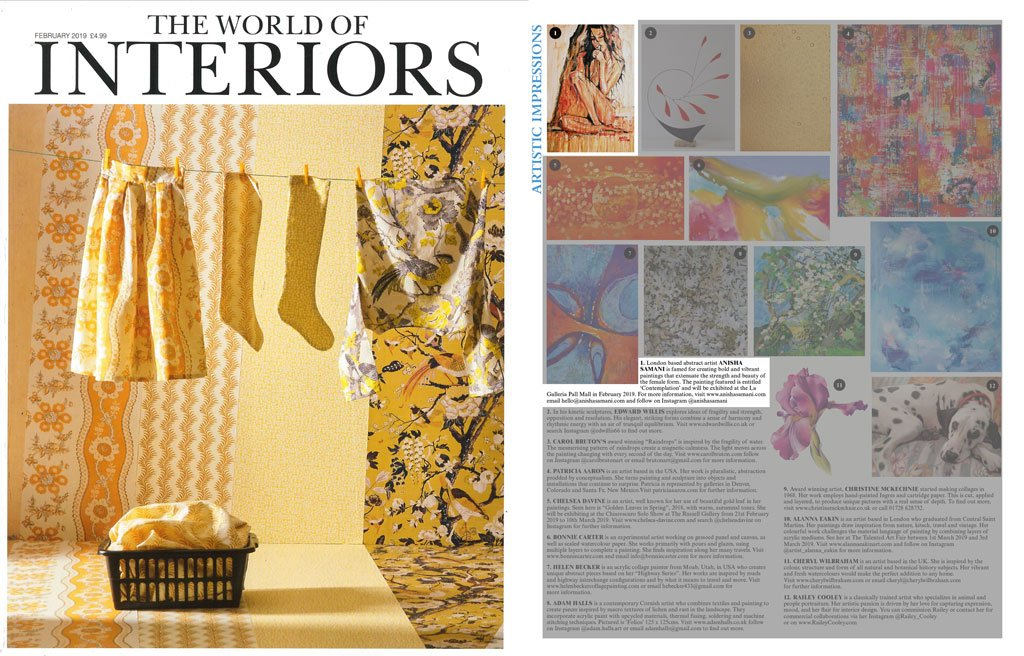 world of interiors – issue Febuary 2019