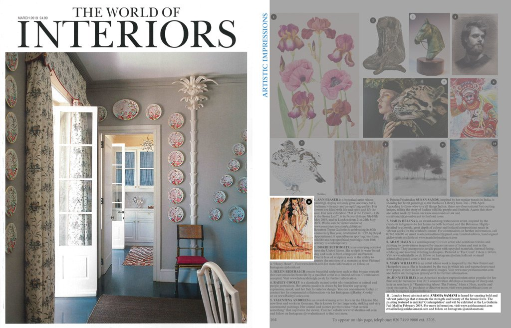 world of interiors – issue march 2019